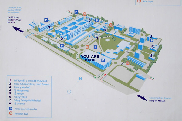 You are here map in a hospital