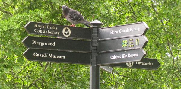 Hyde Park signage