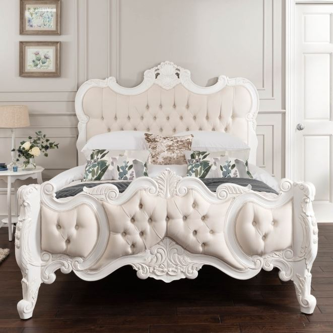Shabby Chic Fabric Bed