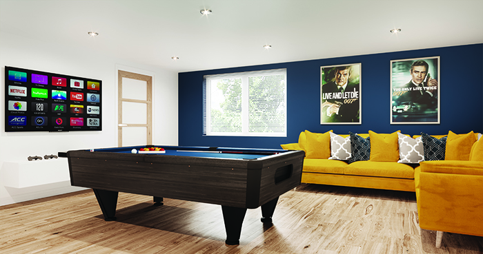 games room at Luxury Cornish Retreats