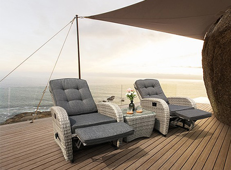 Bellevue two seater rattan set