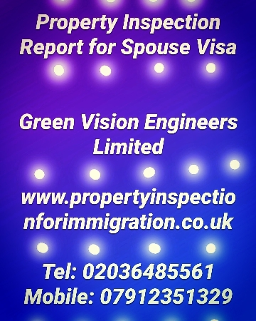 Property Inspection for UK Visa and Immigration
