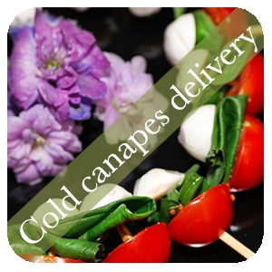 cold canapes delivery
