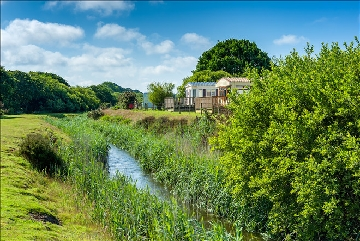 Countryside holiday park with a river near Penzance