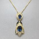 Dior Blue Crystal Vintage Pendant