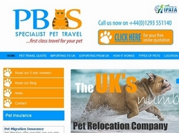 https://www.pbspettravel.co.uk/ website