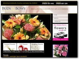 https://www.budsandbows-flowers.co.uk/ website