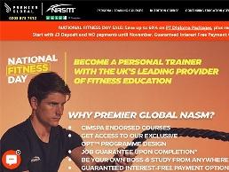 https://www.premierglobal.co.uk/online-personal-training-course website