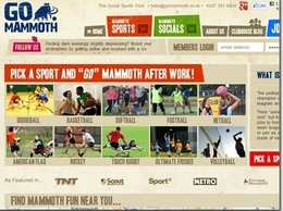 https://www.gomammoth.co.uk/sports-clubs-team-sports/ website