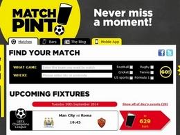 https://www.matchpint.co.uk/ website