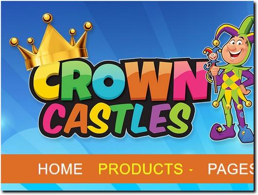 https://www.crownbouncycastlehire.co.uk/ website