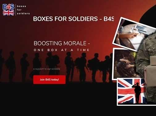 https://boxes4soldiers.co.uk/ website