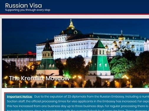https://www.russian-visa.org.uk/ website