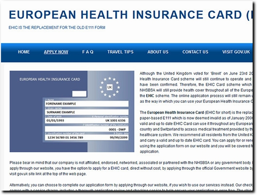 Renew Ehic Card Uk >> England Greater London Ehic Apply Renewal European Health
