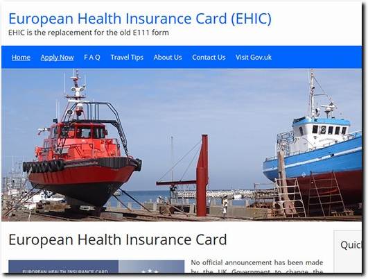 https://www.ehic-card.org.uk/ website