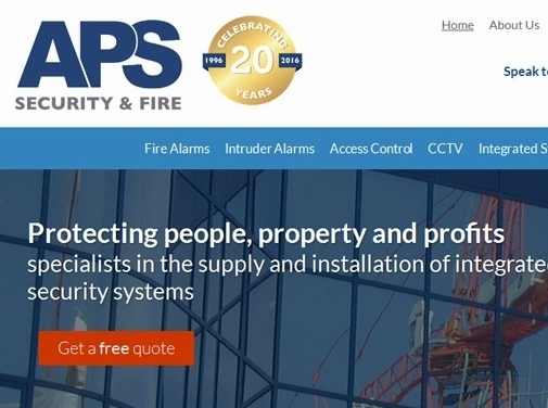 https://www.aps-security.co.uk/ website
