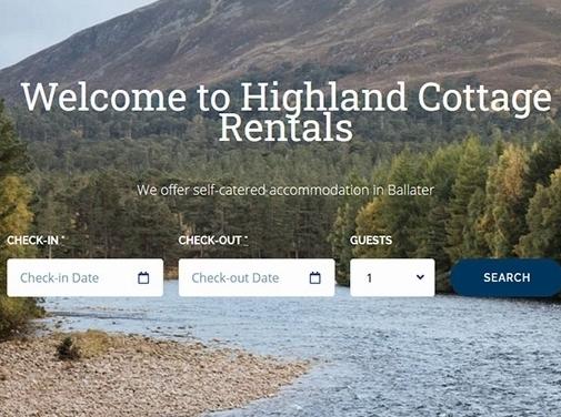 https://highlandcottagerentals.com/ website