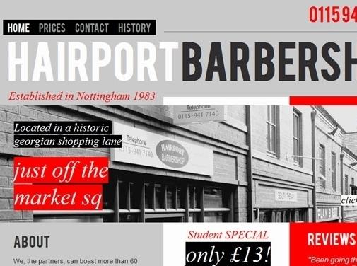 https://www.hairportbarbershop.co.uk/ website