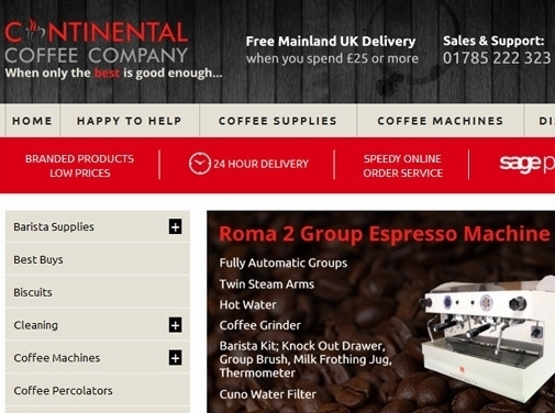 https://continentalcoffee.co.uk/ website