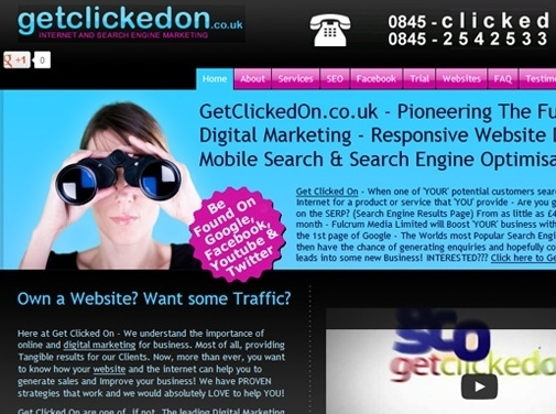 https://www.getclickedon.co.uk website