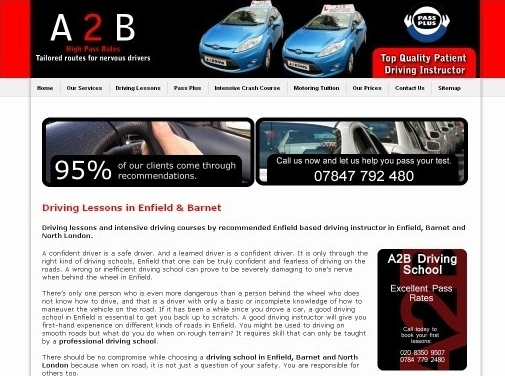 http://a2bdrivingschooluk.co.uk/ website