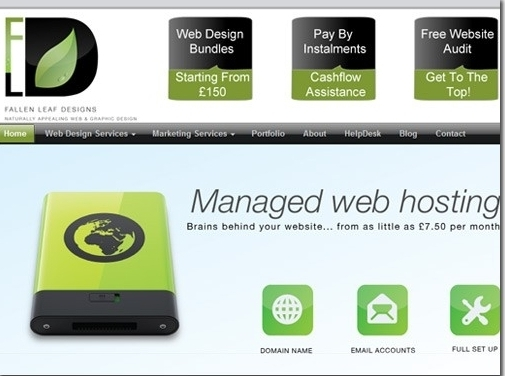 https://www.fallenleafwebdesign.co.uk website
