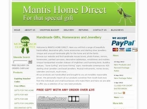 http://www.mantishomedirect.co.uk/ website