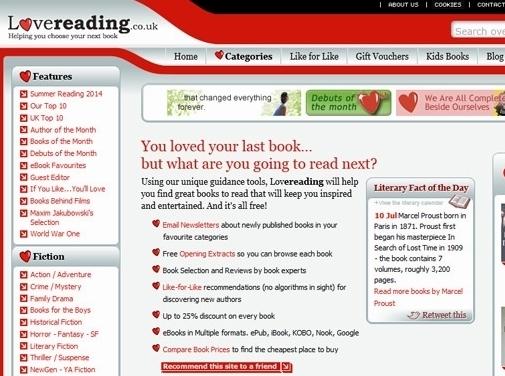 https://www.lovereading.co.uk/ website